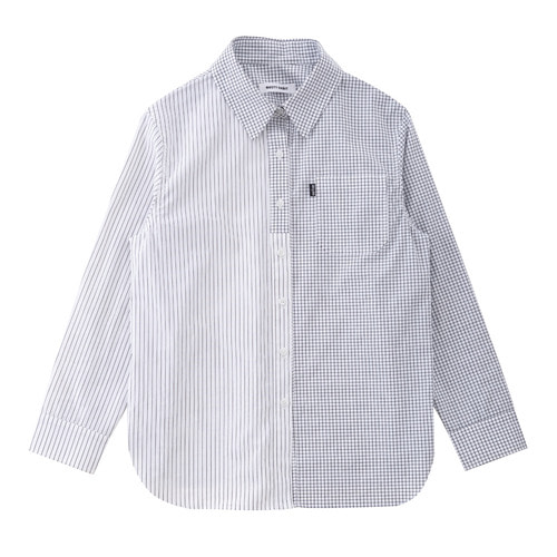 SS19 COTTON STRIPE/CHECK SHIRT