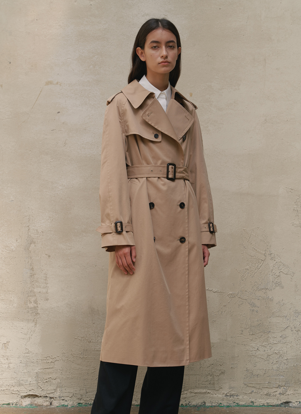 20 A/W LONG TRENCH COAT SAND BEIGE