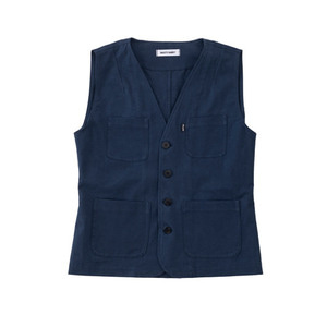 SS19 COTTON WORK VEST (navy)