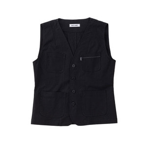 SS19 COTTON WORK VEST (black)