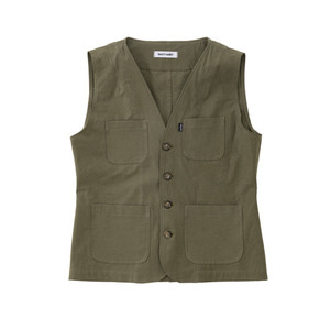 SS19 COTTON WORK VEST (khaki)